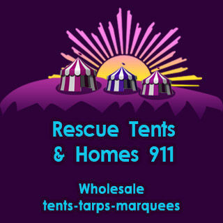 Sanaa Rescue Tents mobile Header